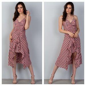 😍🌺 Striped Ruffle Red Dress!! 🌺😍